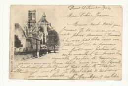Cp, 58, Nevers, La Cathédrale, Voyagée 1904 - Nevers
