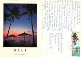 Kuta Beach, Bali, Indonesia Postcard Posted 1998 Stamp - Indonesië