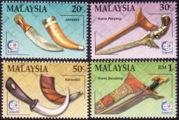 MALAYSIA 1995 Traditional Weapons 4v Set  MNH [S3809] - Malaysia (1964-...)