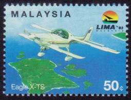 MALAYSIA 1993 LIMA 50c Eagle X-TS Airplane MNH [RM481] - Malaysia (1964-...)