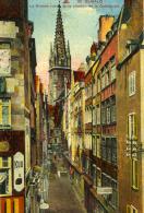 SAINT-MALO - LA GRANDE RUE ET LE CLOCHER DE LA C ATHÉDRALE (La Boulangerie) - Saint Malo