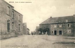 Borlon - Ecole Et Maison Communale - Carte Animée ( Voir Verso ) - Durbuy