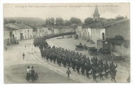 CPA -ENVIRONS DE TOUL -PIERRE LA TREICHE -REGIMENT RENTRANT DE BOIS L' EVEQUE -(54) -Circulé 1915 -Animée, Soldats...... - Régiments
