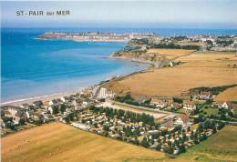 2 CPSM      St Pair Sur Mer  Vue Générale Aérienne      P  684 - Saint Pair Sur Mer