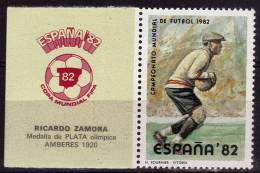 ESPAGNE   Vignette   * *     Cup 1978        Football  Soccer  Fussball Gardien - 1978 – Argentine
