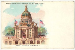 75 - PARIS - Exposition Universelle De 1900 - Pavillon Des Etats-Unis - Edition Verger - USA - Tentoonstellingen