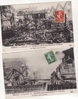 "EPERNAY  -  Lot De 2 Cartes "" Incendie Des Etablissements Mercier """