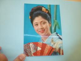 CARTE RELIEF...3D...FEMME JAPONAISE...(CLIN D´OEIL) - Femmes
