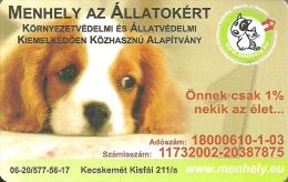 DOG * DOGGIE *ANIMAL * FONDATION SHELTER FOR THE ANIMALS * WHITE CROSS * KECSKEMET * CALENDAR * Menhely 2012 * Hungary - Calendarios