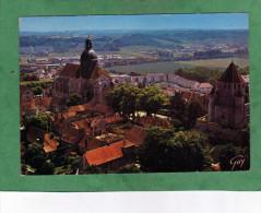 Provins En Ville Haute : L´église Saint-Quiriace La Place Du Cloître Et La Tour De César - Provins