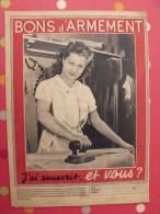 Pub Pour Les Bons D´armement. Match Du 8 Février 1940 - Historical Documents