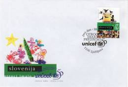 SLOVENIA 1996 50th Anniversary Of UNICEF  On FDC.  Michel 141 - Slovenia