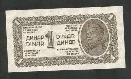 [NC] YUGOSLAVIA / JUGOSLAVIA - 1 DINAR (1944) - UNC - Jugoslavia