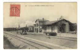 35 - PIPRIAC - LOHEAC  - La Gare Trés Leger Pli Haut Sinon Bon - Autres Communes