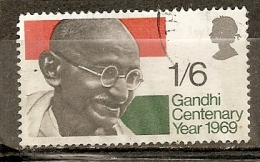 Grande-Bretagne Great Britain 1969 Gandhi Obl - 1952-.... (Elizabeth II)