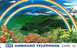 HAWAII 10 UNITS RAINBOW OVER MOUNTAINS LANDSCAPE BIRD TAMURA ISSUED 1990's READ DESCRIPTION !! - Hawaii