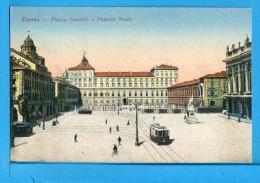 CP, TORINO, Piazza Castello & Palazzo Reale, Voyagé En 1918 - Italien