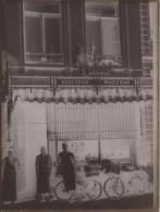 1920 - Boucherie DANIAUX - RUE D´HAVRE - MONS - GRAND Négatif Plaque De Verre - PHOTO + SCAN - Plaques De Verre