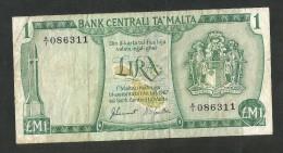 [NC] MALTA - CENTRAL BANK Of MALTA - 1 Lm / POUND (1967) - Malta