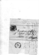 1873 LETTERA  CON ANNULLO  VICENZA +  PIAZZOLA SUL BRENTA - 1861-78 Vittorio Emanuele II