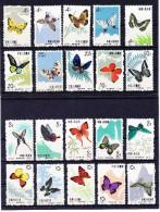1963 China 2 Sätze Schmetterlinge Mi.# 689-698** Und 726-735** Alle Postfrisch - 1949 - ... Repubblica Popolare