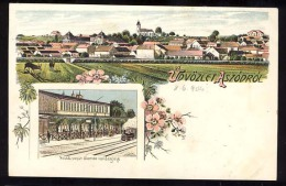 AK    Hungary     ASZOD    Litho     Bahnhof   1904 - Ungarn