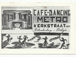 BLANKENBERGE - Cafe-Dancing METRO - Kerkstraat (1956) - Blankenberge