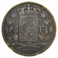 FRANCIA - FRANCE 5 FRANCS 1830 A CHARLES X -  ARGENT SILVER - Francia