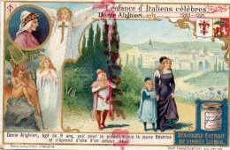 CHROMO LIEBIG - ENFANCE ITALIENS CELEBRES- DANTE ALIGHIERI - DIVINE COMEDIE- FRAY BENTOS URUGUAY- COLON ARGENTINE - Liebig