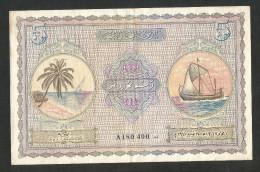 [NC] MALDIVES - 5 RUPEES (1947) - - Maldive