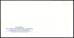 SWITZERLAND 1986 - 91st I.O.C. SESSION IN LAUSANNE - ENVELOPE OF THE ORGANIZING COMMITTEE - Giochi Olimpici