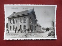 Verlaine : La gare - REPRO ann�e 70 (V1031)