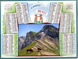 CALENDRIER ORIGINAL 1966  COL DU TOURMALET  -  FEUILLET DPT  75  PARIS - Calendriers