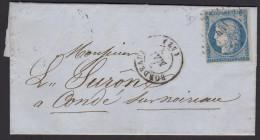 Ceres N° 4 - 25c Bleu Non Dentelé - Condé Sur Noireau - Bordeaux - 1849-1850 Ceres
