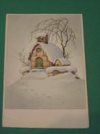 Carte Illustrée Chapelle Sous La Neige - Autres