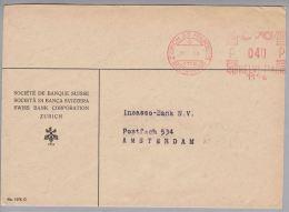 Motiv Bank 1954-01-20 Firmenfreistempel #1176 Swiss Bank Corporation Zürich - Timbres