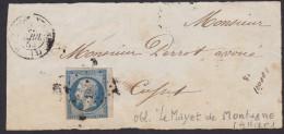 N° 10 - Napoléon Présidence - 25c Bleu Non Dentelé - Le Mayet De Montagne ( Allier ) - 1852 Louis-Napoléon