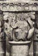"Geneve - Cartolina SCULTURA ""LE CHRIST EN MAJESTE', BENISSANT"" Chapiteau (Cathedrale St-Pierre) - PERFETTA G54 - Sculpturen"