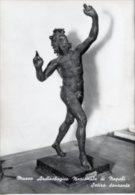 Napoli - Cartolina SCULTURA SATIRO DANZANTE (Museo Archeologico Nazionale) - PERFETTA G54 - Sculture