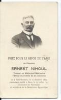 Souvenir E Nihoul Docteur En Médecine Vétérinaire Saint-Germain (Eghezée) Meux 1874 - 1943 - Décès