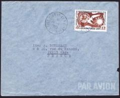 1960    Lettre Avion Pour La France   20 Fr Droits De L'homme Yv 358  Seul - St.Pierre Et Miquelon