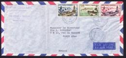 1960   Lettre Avion Pour La France    Morue 1 Fr, Et Bateaux De Pêche 4fr Et 10 Fr  Yv 354, 356-7 - St.Pierre Et Miquelon