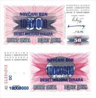 Bosnie - Bosnia Billet De 10 Millions Dinara Pick 36 Neuf 1er Choix UNC - Bosnia And Herzegovina