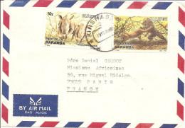 LETTRE ZAIRE  1986 - Democratische Republiek Congo (1997 - ...)