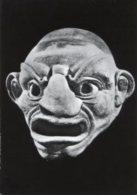 Taranto - Cartolina SCULTURA MASCHERA FITTILE DI ATTORE FLIACICO, (Museo Nazionale) - PERFETTA G54 - Sculptures