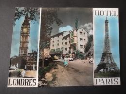 CPSM ANDORRE - Hotel Les Escaldes PARIS-LONDRES - Carte De Voeux - Andorra