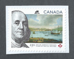 CANADA, 2013,  250 YEARS Of POSTAL HISTORY, Single From Booklet   Mnh - Carnets