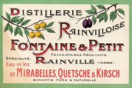 RAINVILLE  Distillerie Rainvilloise Fontaine Et Petit Carte Commerciale RARETEE - Autres Communes