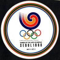 SOUTH KOREA 1988 - OLYMPIC GAMES SEOUL '88 - STICKER / AUTOCOLLANTE - Giochi Olimpici