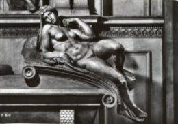 Firenze - Cartolina SCULTURA L'AURORA, Michelangelo (Cappella Medicee) - PERFETTA G54 - Sculture